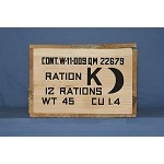 US K RATION CRATE